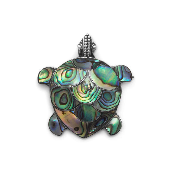 Paua Shell Turtle Pin/Pendant