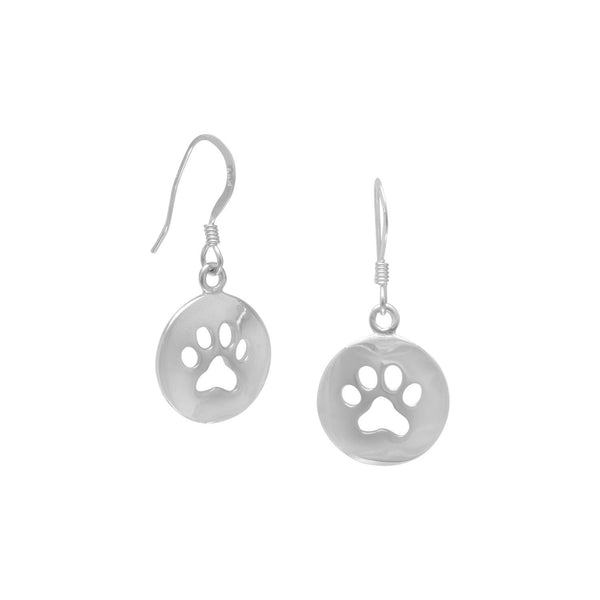 Cut Out Paw Print Earrings