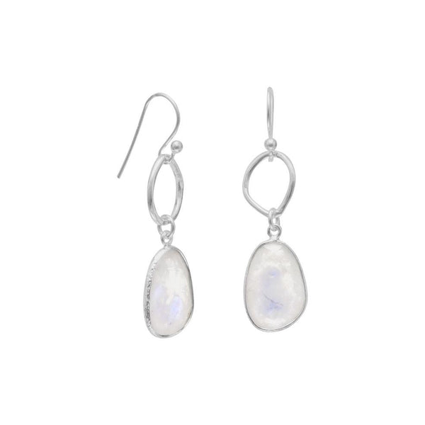 Rainbow Moonstone Drop Earrings