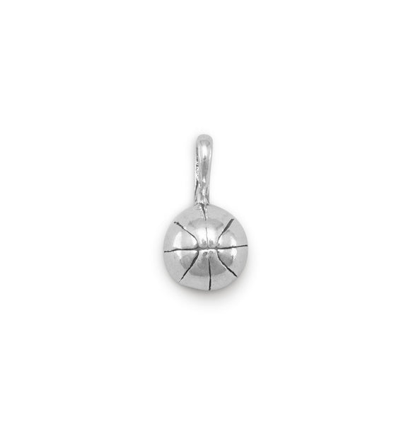 Small 3D Basketball Charm