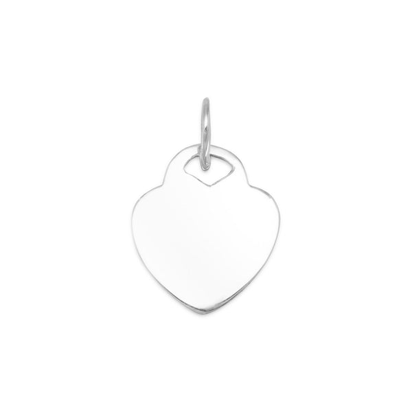 Engravable Heart Tag Pendant