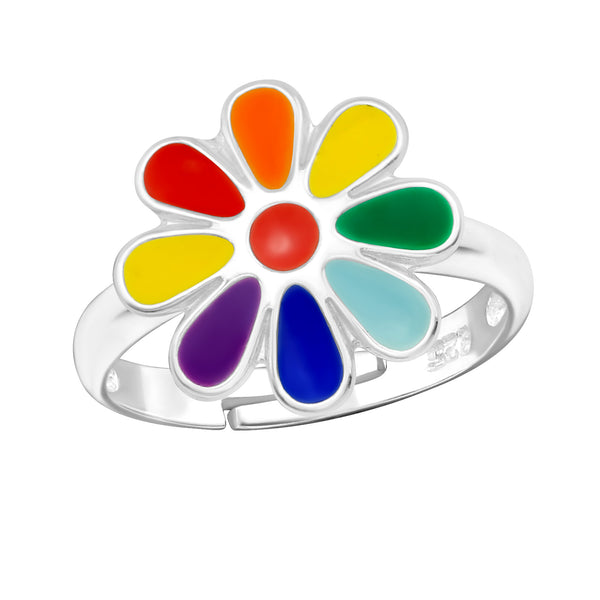 Children's Rainbow Flower Ring
