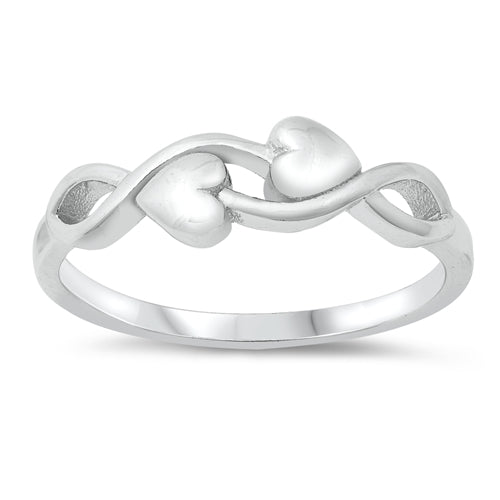 Two Hearts Infinity Ring
