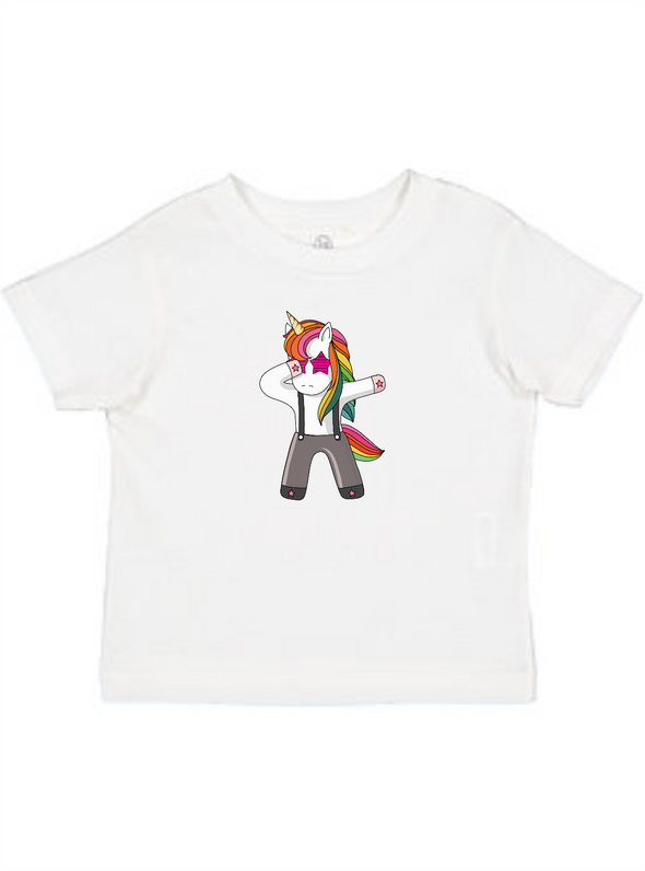 Dabbing Rock Star Unicorn Toddler Tee
