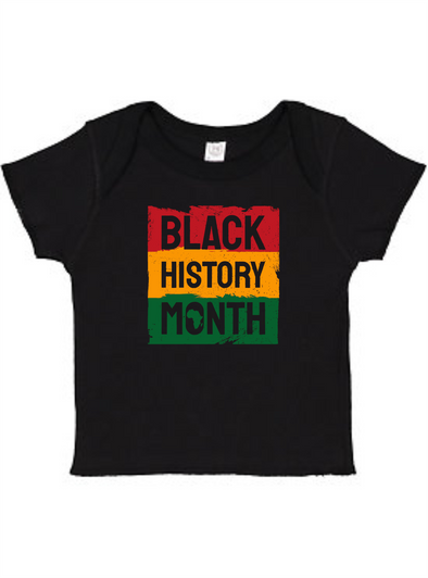 Black History Month Infant Baby Rib Tee