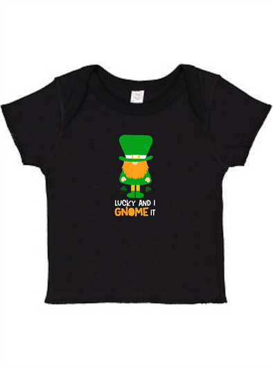 Lucky and I Gnome it  Infant Baby Rib Tee