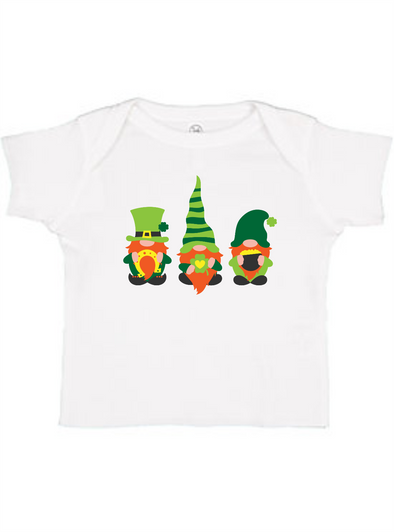 St Patricks' Day Gnomes Infant Baby Rib Tee