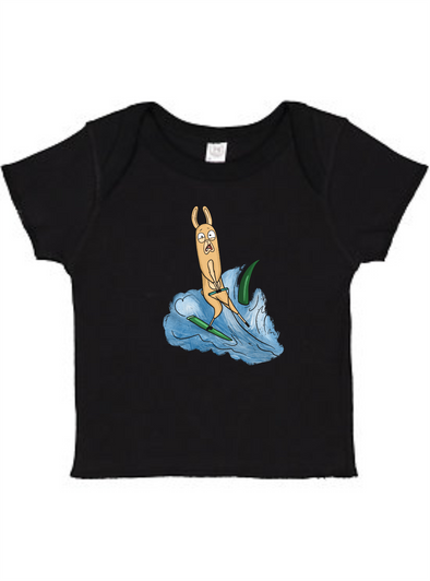 Water Skiing Llama Infant Baby Rib Tee