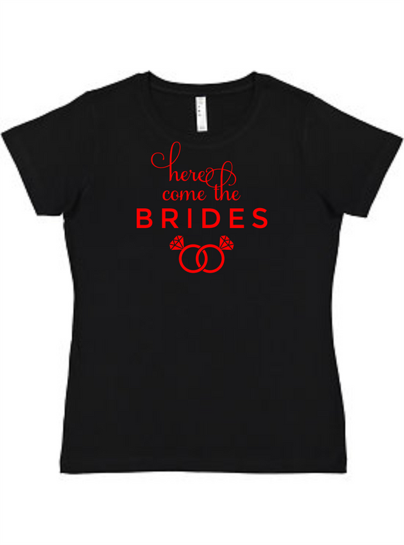 Here comes the Brides Ladies Tee