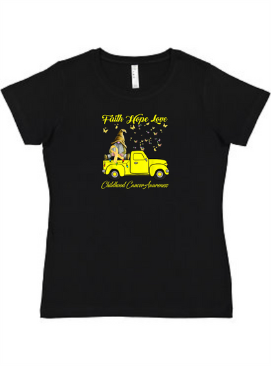 Child Cancer Awareness Ladies Tee