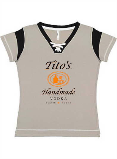 Tito's Ladies Lace-up Tee