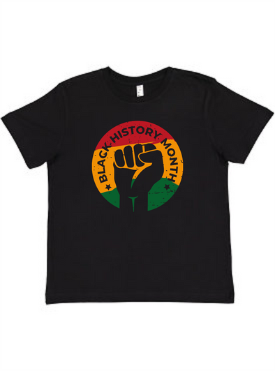 Black History Month Emblem Youth Unisex Tee
