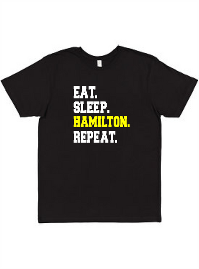 Eat Sleep Hamilton Repeat Unisex Tee