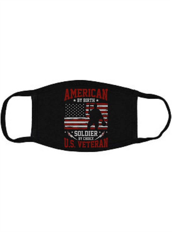 American by Birth Face Mask