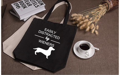 Easily Distracted by Weiners Tote Bag