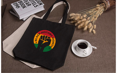 Black History Emblem Tote Bag