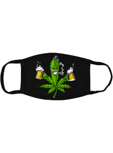 Weed and Beer Face mask