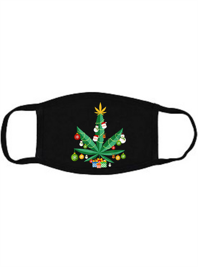 Christmas Weed Face mask