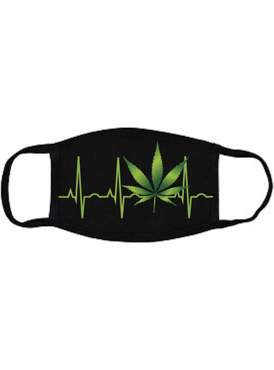420 Heartbeat Face mask