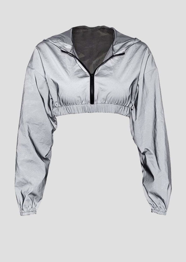 CROP HOODIE REFLECTIVE - Alienation
