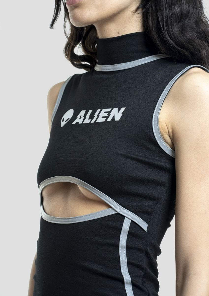 Reflective Alien Dress - Alienation
