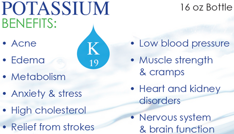 Potassium Mineral Water Benefits