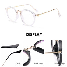 Load image into Gallery viewer, Round Retro Blue Light Blocking Computer Glasses for Women