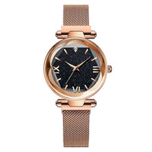Load image into Gallery viewer, Womens Starry Classy Watch and  Luxury Bracelet Magnetic Mesh