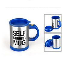 Load image into Gallery viewer, Smart Self Stirring Stainless Steel Milk Coffee Mixing Mug