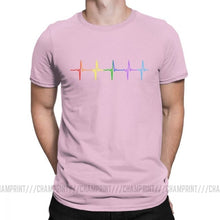Load image into Gallery viewer, Pink Rainbow Heartbeat Shirt