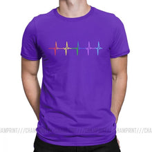 Load image into Gallery viewer, Purple Rainbow Heartbeat Shirt