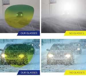 Day Night Vision Glasses For Safer Night Driving