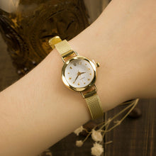 Load image into Gallery viewer, Womens Gold Fashion Beautiful Elegant Rhinestone Crystal Watch