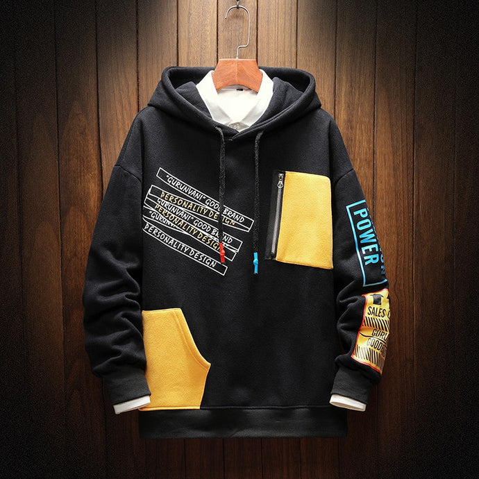 Patchwork Loose Fashion Streetwear Hoodies