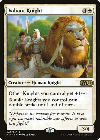 Valiant Knight [Core Set 2019] | Dice Addiction LLC