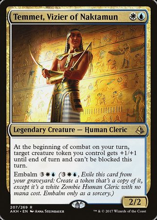 Temmet, Vizier of Naktamun [Amonkhet] | Dice Addiction LLC