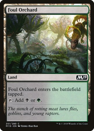 Foul Orchard [Core Set 2019] | Dice Addiction LLC