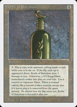 Bottle of Suleiman [Revised Edition] | Dice Addiction LLC