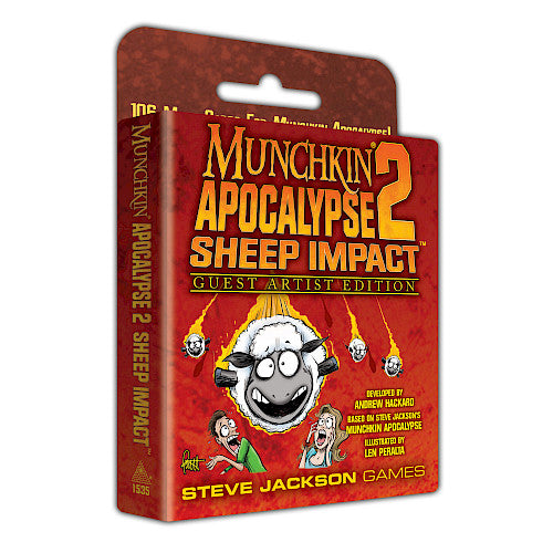 Munchkin: Munchkin Apocalypse 2 - Sheep Impact Expansion Guest Artist Expansion | Dice Addiction LLC