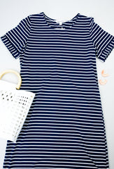 Buttoned To A T-Shirt Dress In Navy