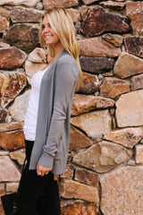 Charlotte Charcoal Cardigan - BeeLovely Boutique