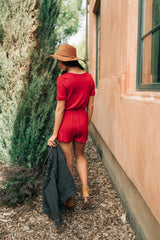From Romp To Rest Romper In Red