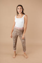 Pink Leopard Joggers