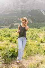 All Day Tank In Charcoal - BeeLovely Boutique