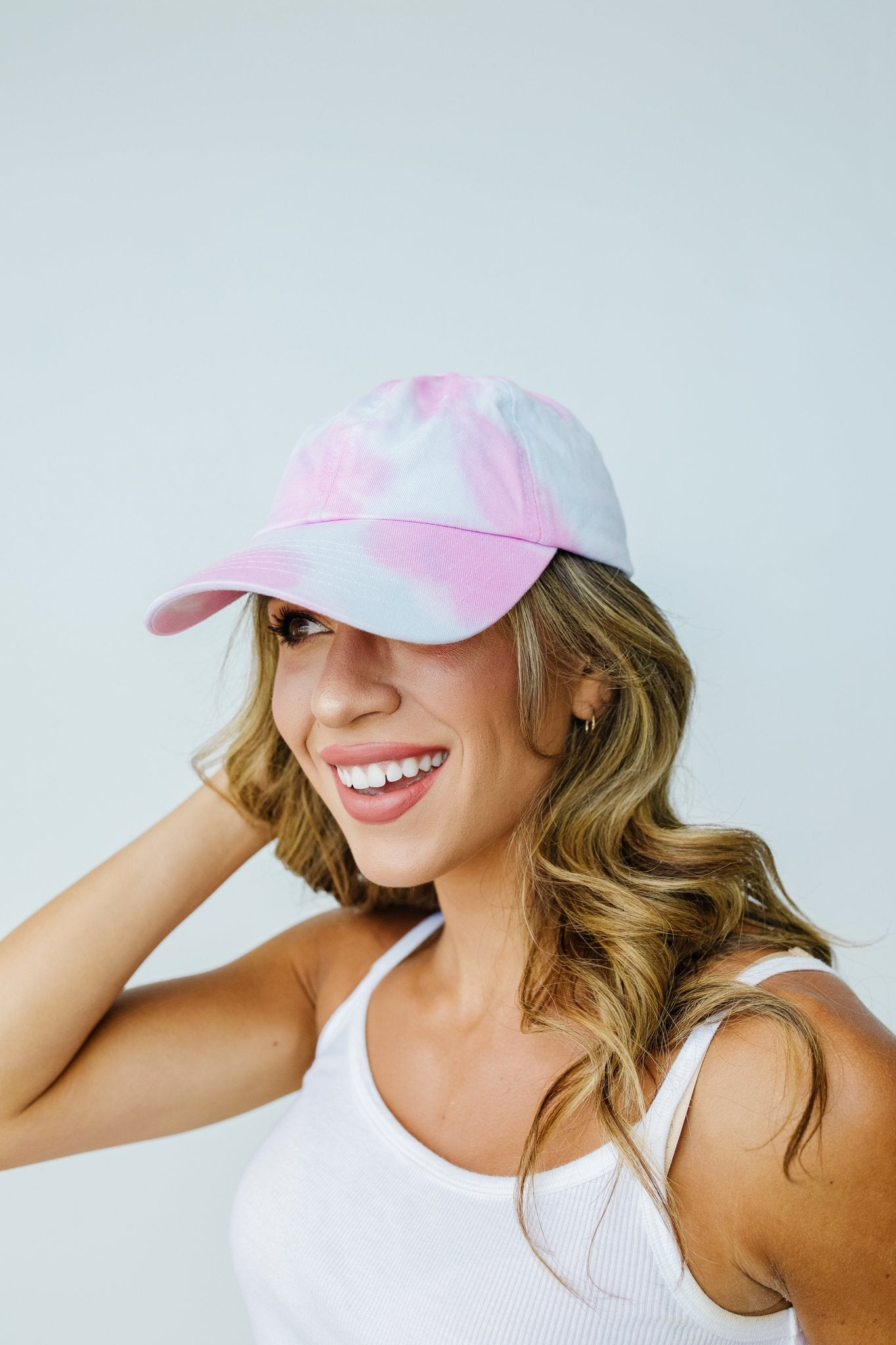 Bed Head Tie Dye Cap In Cotton Candy - BeeLovely Boutique
