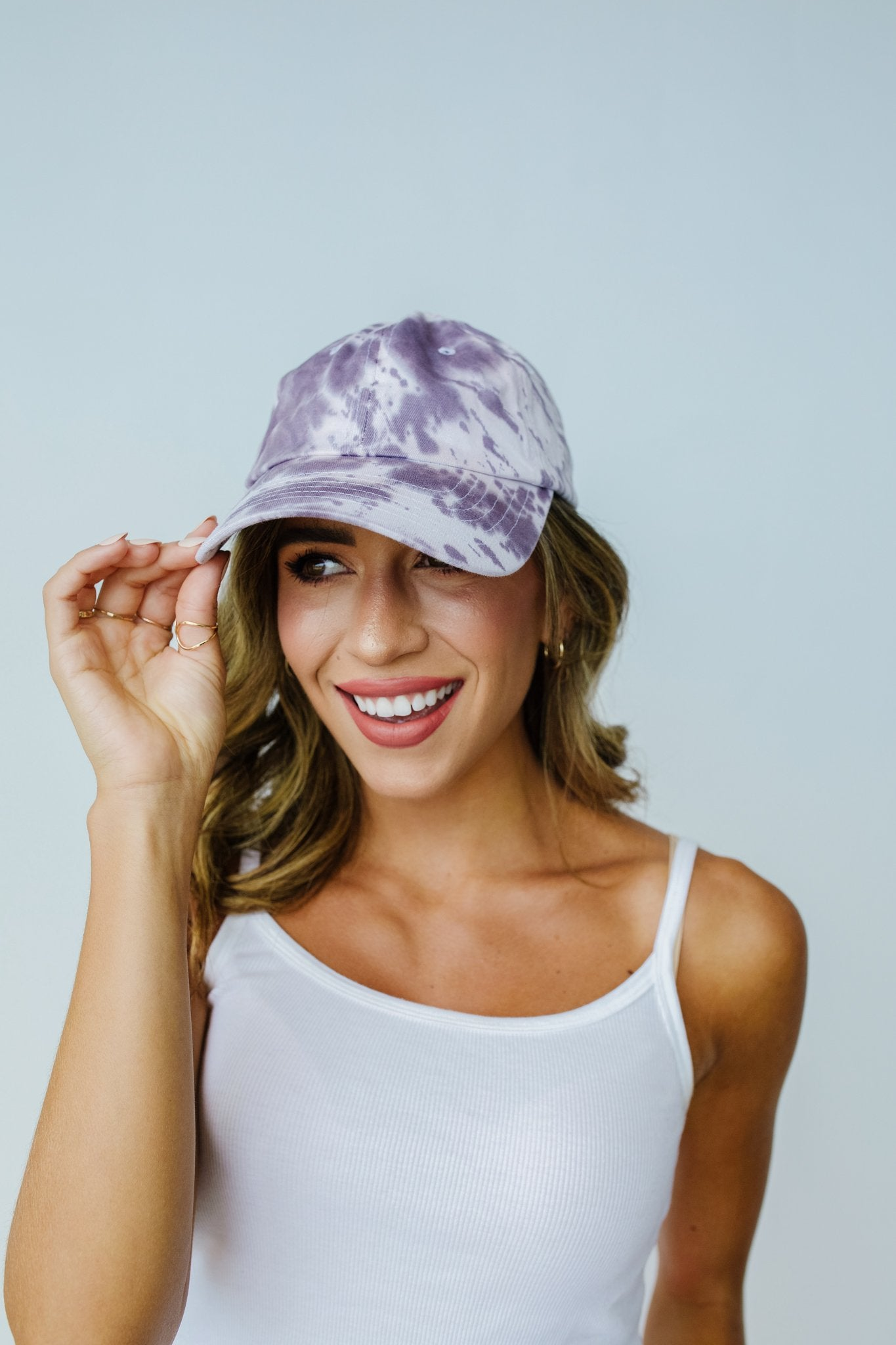 Bed Head Tie Dye Cap In Storm Gray - BeeLovely Boutique