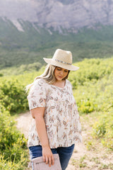 Bliss Swiss Dot Floral Top In Ivory - BeeLovely Boutique