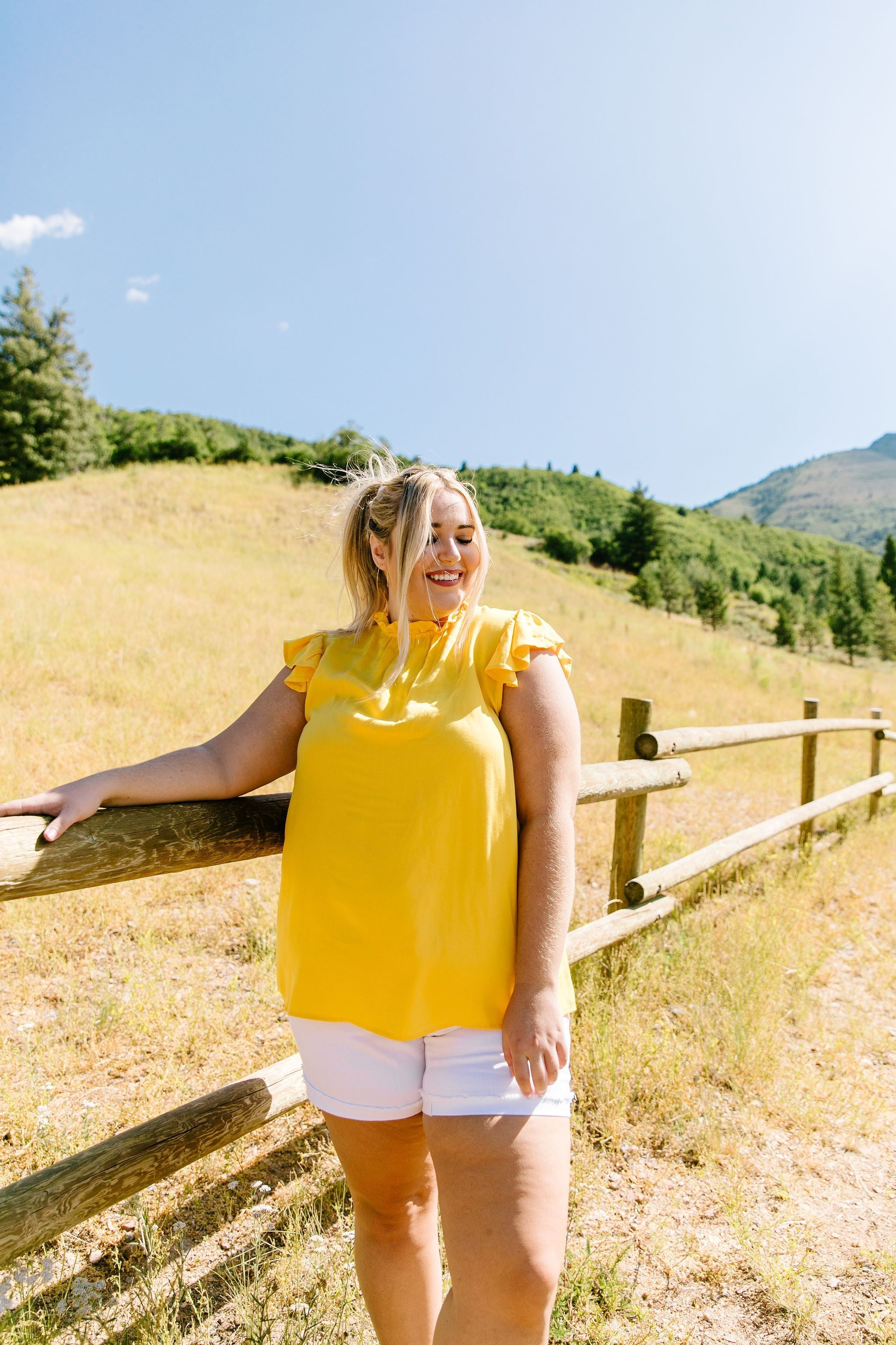 Build Me Up Buttercup Top In Yellow - BeeLovely Boutique