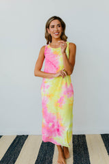 Citrus Splash Tank Dress - BeeLovely Boutique