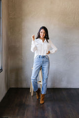 Every Girl's Go-To White Button Down